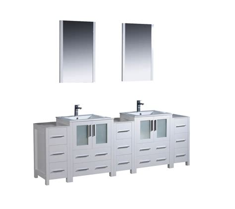 84 inch vanity 84 inch bathroom vanity in white with side cabients