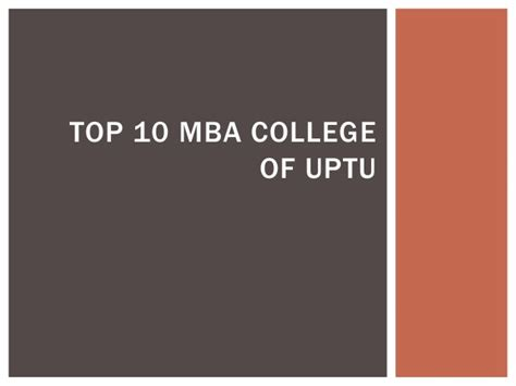 Top 10 Mba by Top 10 Mba College Of Uptu