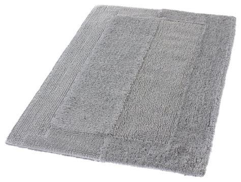 Silver Gray Thick Plush Reversible Cotton Bathroom Rug Cotton Reversible Bathroom Rug