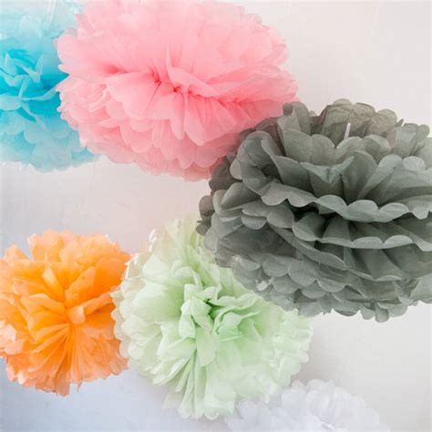 How To Make Large Pom Poms With Tissue Paper - large tissue paper pom pom by berylune
