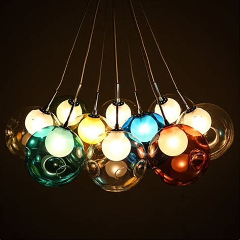 modern colorful glass led pendant light chandelier
