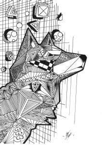geometric wolf coloring pages wolves coloring pages for adults