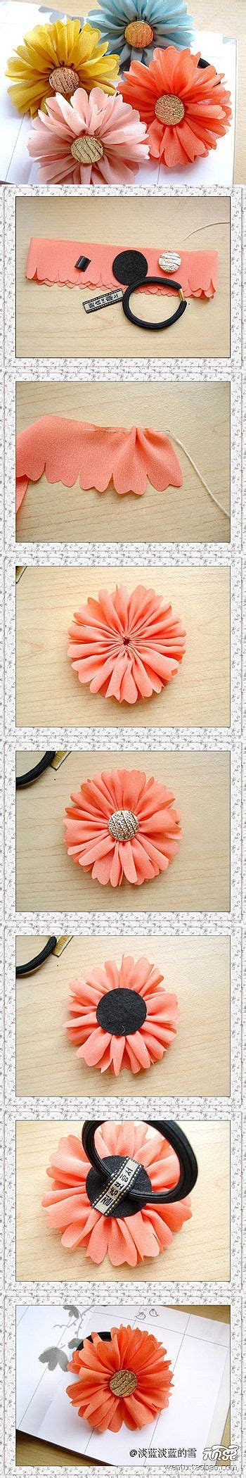 Handmade Accessories Tutorial - 25 best ideas about fabric flower tutorial on