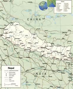 Nepal Maps by Map Of Nepal Nepal Travel Map Nepal Political Map