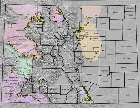 map of colorado gold where is it found colorado geological survey