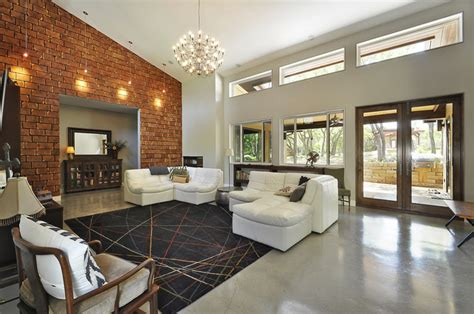 great room modern living room austin  ecolution