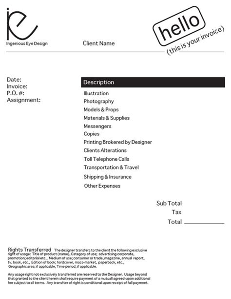 invoice template graphic design design an invoice that practically pays itself