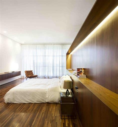 Interior Wood Cladding Ideas by Marcio Kogan S Casa Concrete House Bedroom With Wood