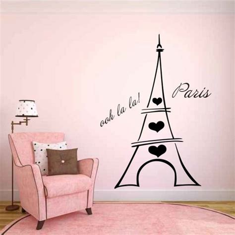 eiffel tower wall sticker decals and stickers by heartland decals artfire