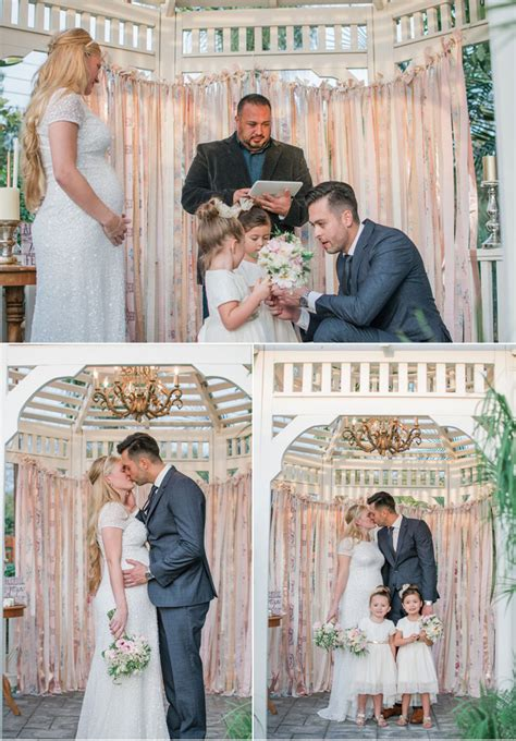 Wedding Vows For Blended Families by Backyard Blended Family Wedding