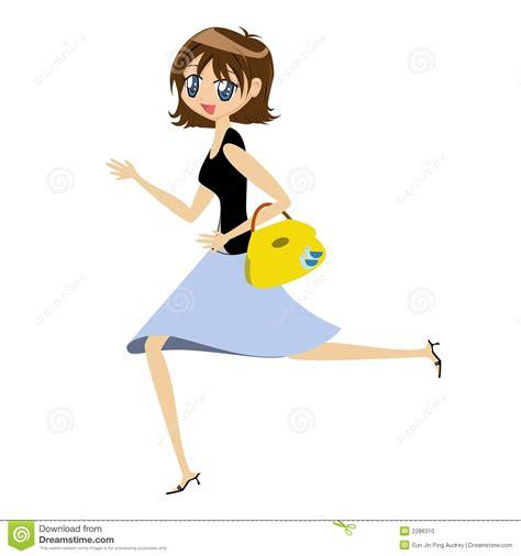 lade in cartone with handbag stock photo image 2286310
