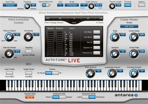 Auto Live by Antares Autotune Live Black Octopus Sound