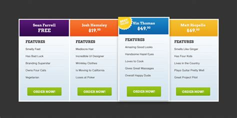 free price table template the design work free price table template the design work