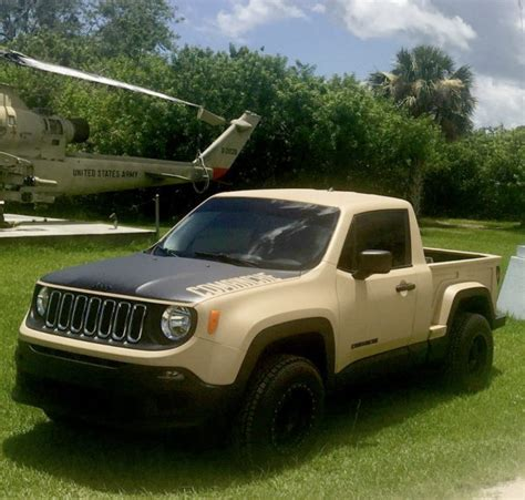 modded jeep renegade jeep renegade turned into a mini comanche truck
