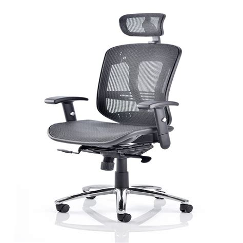 Mesh Office Chairs by Dynamic Mirage 2 Executive Mesh Office Chair With Headrest