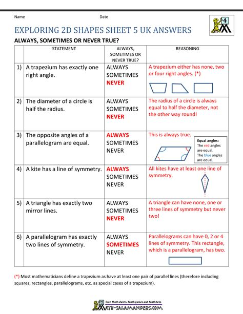 geometric worksheet answers 4th grade geometry