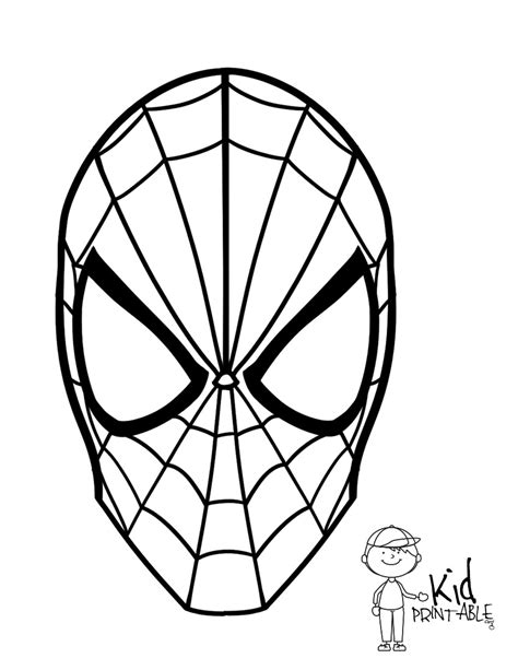 spiderman face coloring page printable spiderman mask coloring pages murderthestout