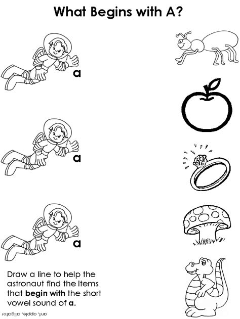 Vowel Sounds Worksheets For Kindergarten by Free Coloring Pages Of Vowels