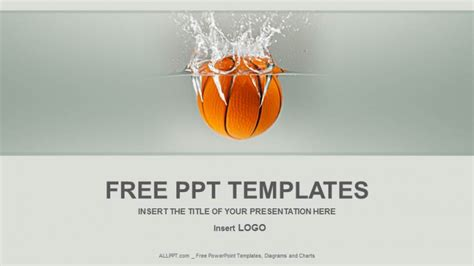 basketball powerpoint template free basketball into water sports ppt templates