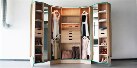 Small Spaces Walk In Closet by Ergonomic Walk In Closet Opens Up Into A Stylish Mini