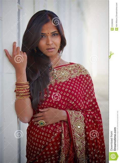 hair cut for long hairs on sari sultry indian woman stock photo image of ethnic yellow