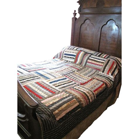 Calico Quilt by Stunning Antique Stitched Calico Quilt From