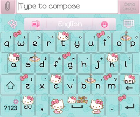 themes go keyboard hello kitty pretty droid themes hello kitty loves bow go keyboard skins