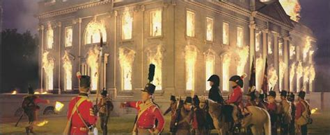 white house burned down amazing pictures of the burning of the white house in 1812 with the official