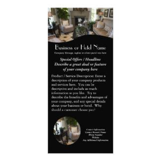 Hotel Rack Cards Template by Spa Rack Cards Zazzle