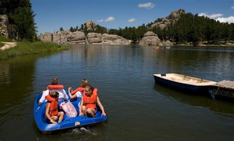 paddle boats rapid city sd black hills lakes are scenic spots to swim boat