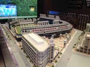 renovation plans chicago cubs display new wrigley field renovation model