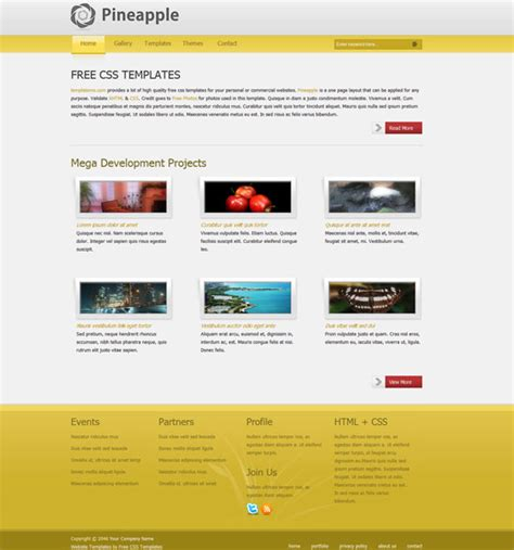 free web application templates with css 70 free xhtml css templates now freebies