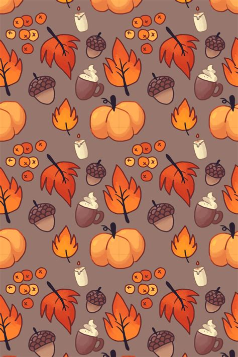 autumn pattern tumblr fall bg by magicpawed on deviantart