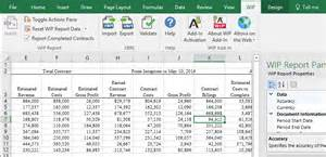 Wip Report Sample Wip Xbrl Add In For Excel