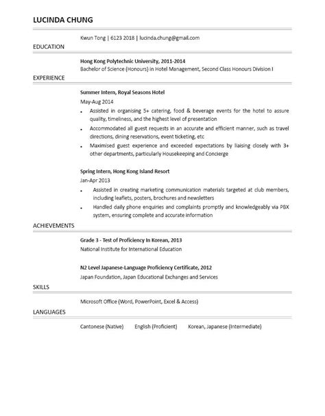 housekeeper room attendant resume example hotel manager ideas of