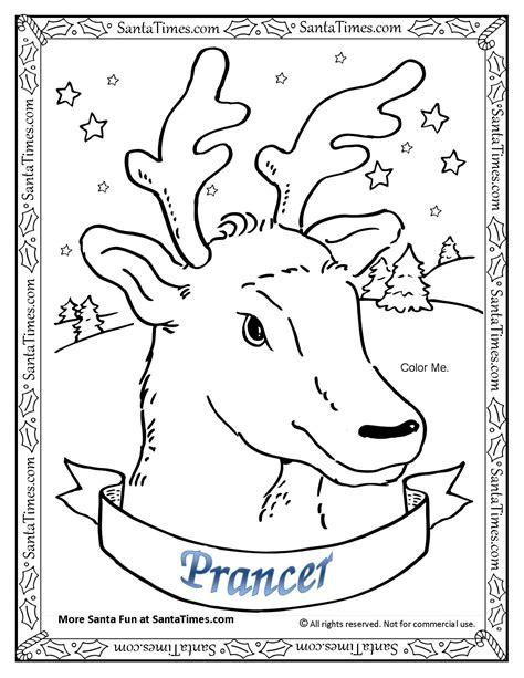 reindeer coloring pages pdf prancer the reindeer