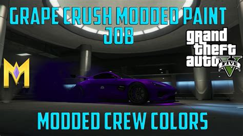 gta 5 crew colors gta 5 modded crew colors new grape crush modded