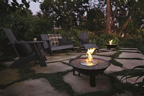 dish fireplace for a warm outdoor area this