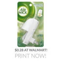 Air Wick Freshener Coupons Air Wick Scented Warmer 0 28 At Walmart