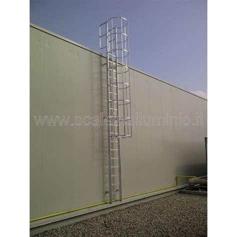 scala a gabbia scale con gabbia di protezione alla marinara