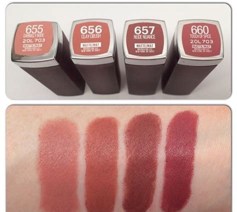 Lipstik 8 Mate Lusinan bellynim maybelline matte lipstick shades swatch i 656 clay crush makeup