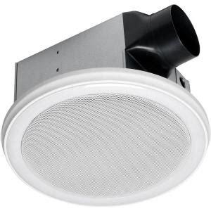 Bathroom Speaker Bluetooth by Home Netwerks Decorative White 90 Cfm Bluetooth Stereo