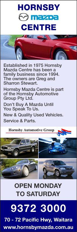 mazda dealer hornsby hornsby mazda centre new car dealers 70 72 pacific