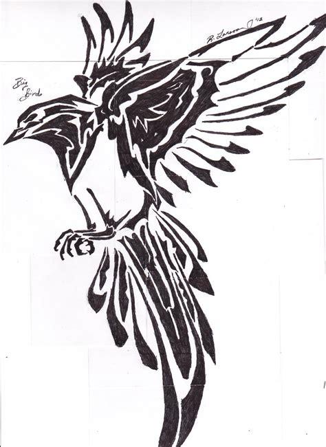 tribal tattoos birds tribal bird by ryl1101 on deviantart