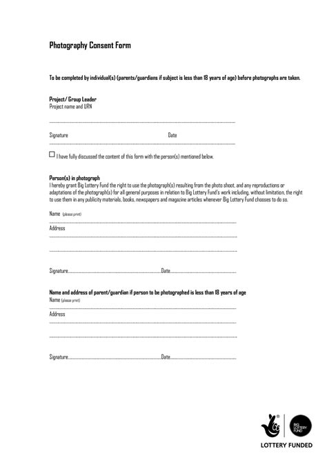 Photography Permission Form Template by Photography Consent Form Doc By Dfhrf555fcg