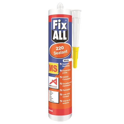 Sealant 85 Gr fixall 220 ms sealant 425gr white bunnings warehouse