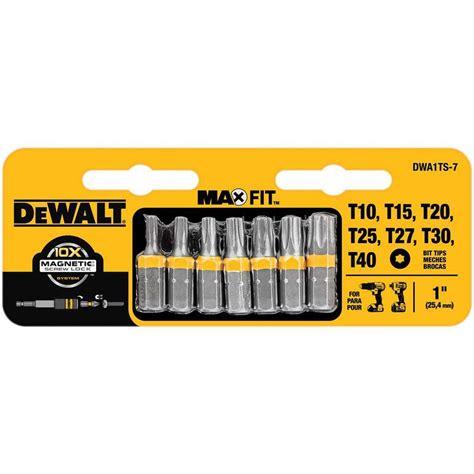 dewalt 1 in torx security drill bit tip set 7