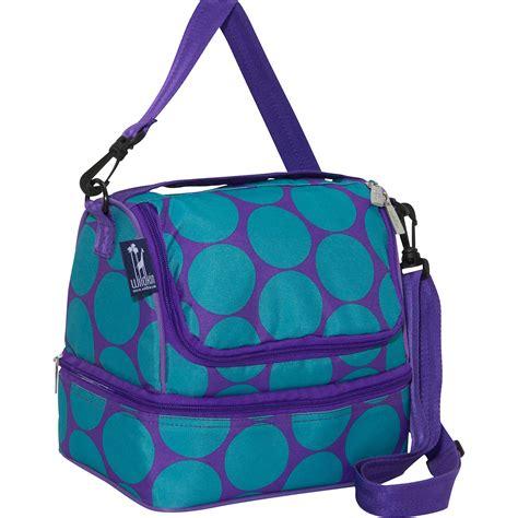 lunch bag wildkin big dots aqua decker lunch bag ebags