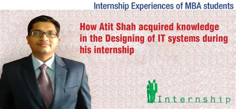 Mba Internship Travel Experience mba internship experience atit shah simsree mumbai