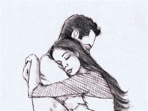 couples in love drawings beautiful pencil sketches of love couple wallpaper best
